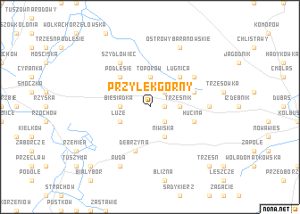 map of Przyłęk Górny