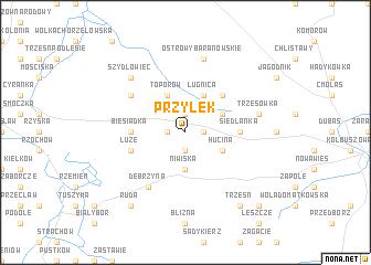 map of Przyłęk