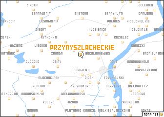 map of Przyny Szlacheckie