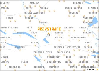 map of Przystajne