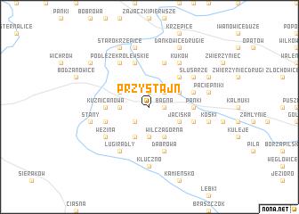 map of Przystajń