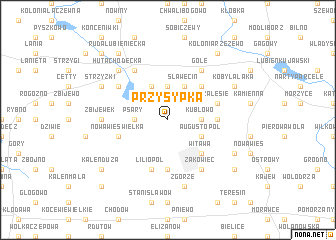 map of Przysypka