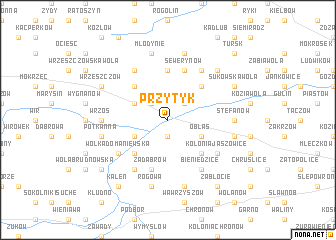 map of Przytyk