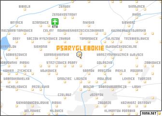 map of Psary Głębokie