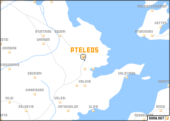 map of Pteleós
