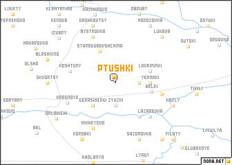 map of Ptushki