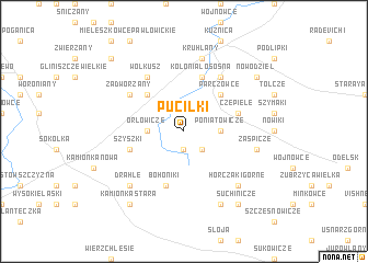 map of Puciłki
