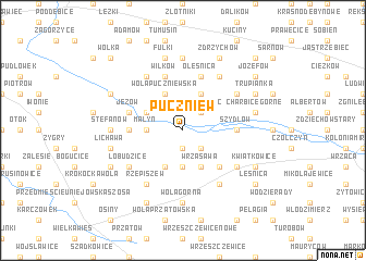 map of Puczniew