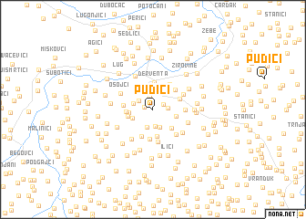 map of Pudići