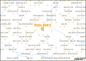 map of Pudłówek