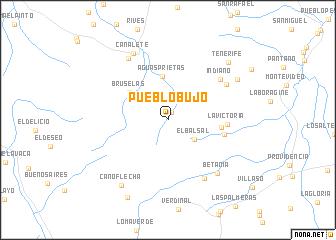 map of Pueblo Bujo