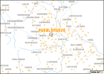 map of Pueblo Nueve
