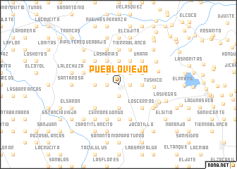 map of Pueblo Viejo
