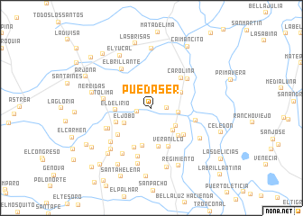 map of Puedaser