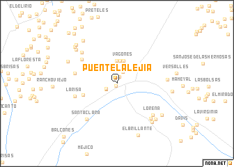 map of Puente La Lejía