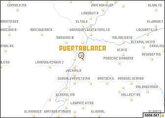 map of Puerta Blanca