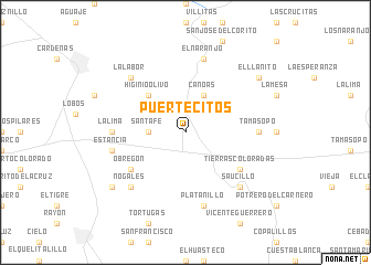 map of Puertecitos