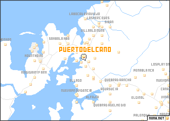 map of Puerto del Caño