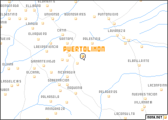 map of Puerto Limón