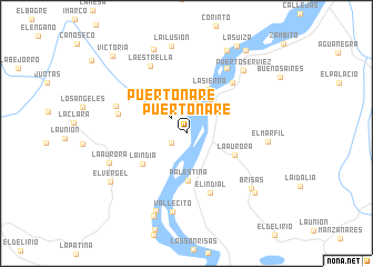 map of Puerto Nare