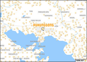 map of Puhŭng-dong