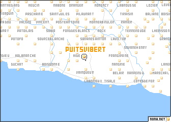 map of Puits Vibert