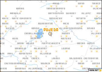 map of Pujeda