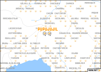map of Pujujil