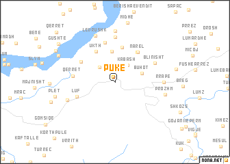 map of Pukë