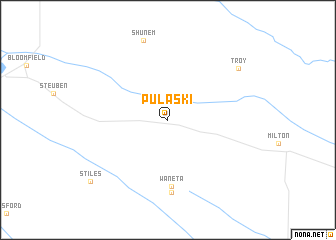 map of Pulaski