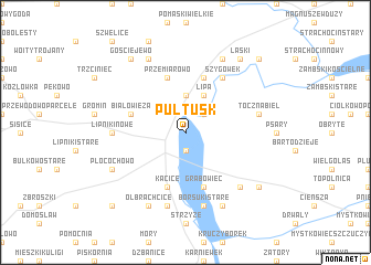 map of Pułtusk