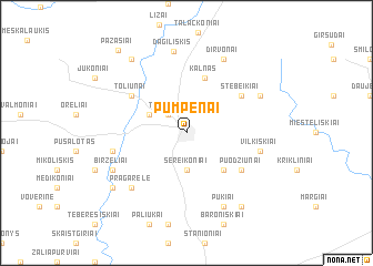 map of Pumpėnai