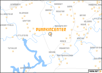 map of Pumpkin Center