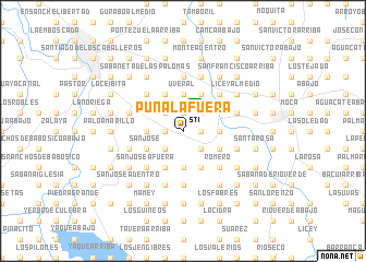 map of Puñal Afuera