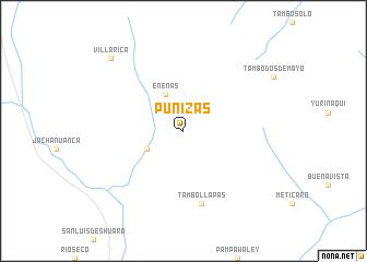 map of Puñizas