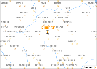 map of Punnge