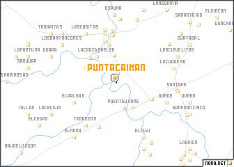 map of Punta Caimán