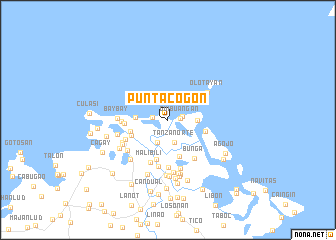 map of Punta Cogon