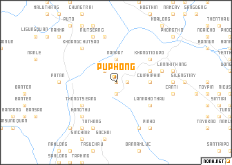 map of Pú Phong