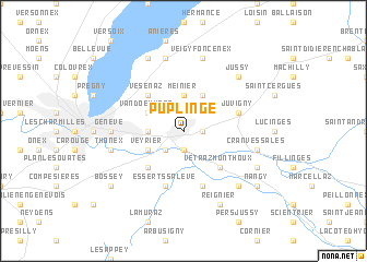 map of Puplinge
