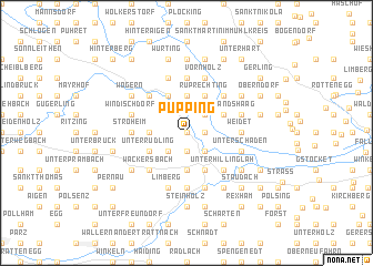 map of Pupping