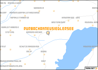 map of Purbach am Neusiedlersee