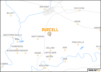 map of Purcell
