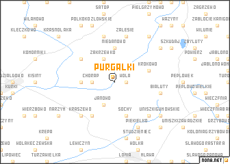 map of Purgałki