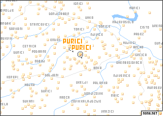 map of Purići
