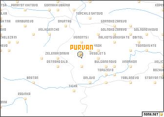 map of Pŭrvan