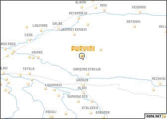 map of Purviņi