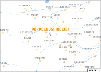 map of Pŭrvolovski Kolibi