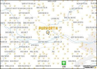 map of Purwörth