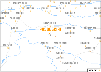 map of Pusdešriai